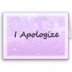 aplogy